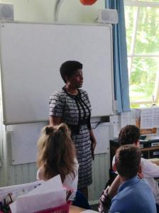 I connect with students both nationally and internationally